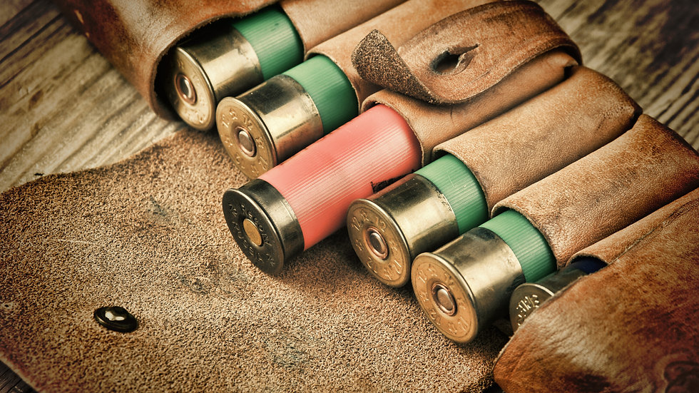 12 Gauge (6 Rounds) Ammunition with 6 Round Leather Case