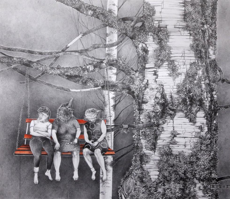 Huaraset män työn perässä sinne nuapurriin, mummon perintö unehtu salolle.
