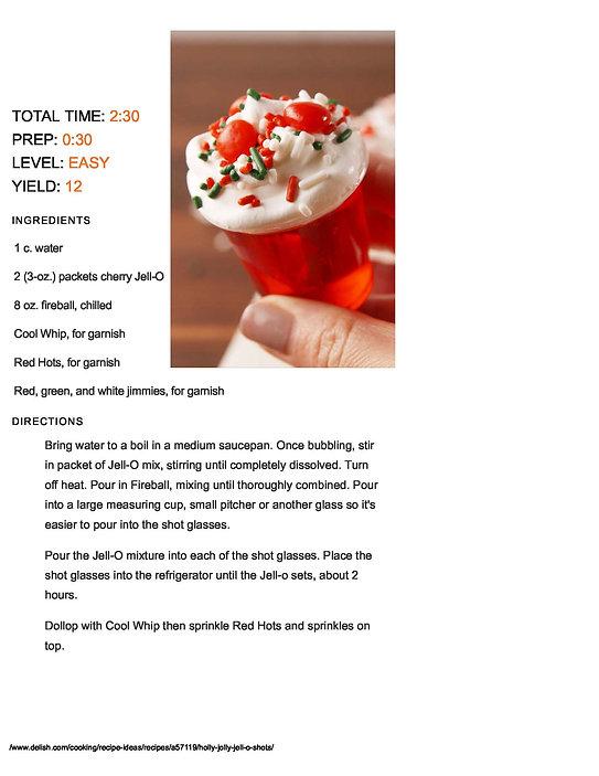 Fireball Jell-O Shot Recipe