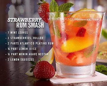 Strawberry Rum Smash Drink Recipe