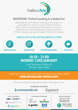 FinTechAviv 23nd january invitation
