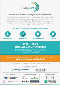 November 22 FinTech-Aviv Invite