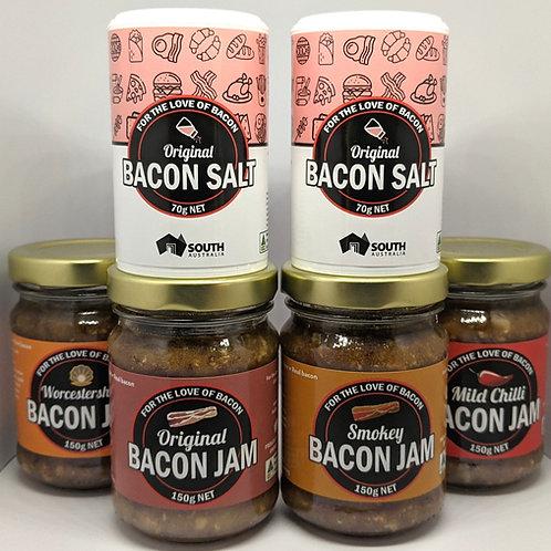 YOU'RE BACON ME CRAZY 4 x Bacon Jam, 2 x Bacon Salt