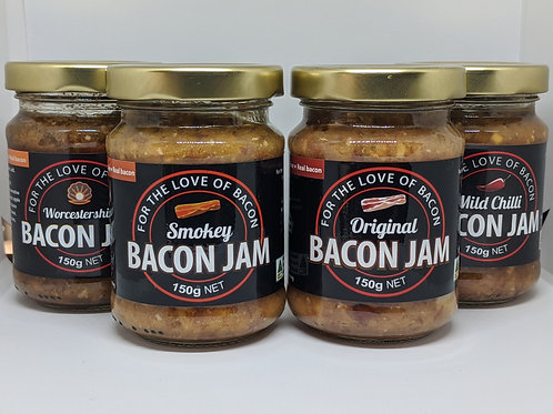Mix Pack of Bacon Jam (4 Jars of 150g)