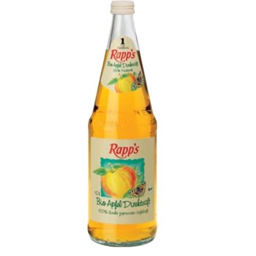 Rapp's Bio Apfel Direktsaft 6 x 1 Liter (Glas)