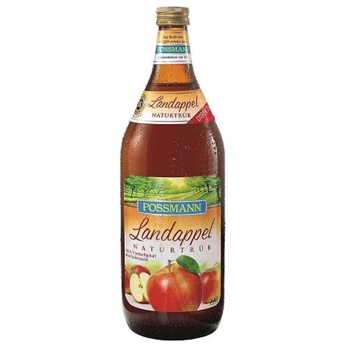 Possmann Landappel naturtrüb Apfelsaft (Direktsaft) 6 x 1 Liter (Glas)