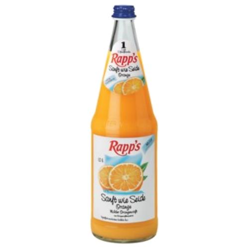 Rapp's Sanft wie Seide Milder Orangensaft 6 x 1 Liter (Glas)