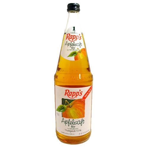 Rapp's Apfelsaft klar 6 x 1 Liter (Glas)