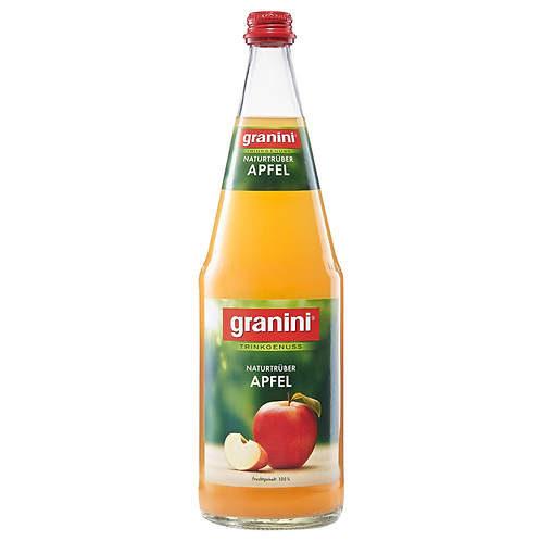 Granini Trinkgenuss Apfel Trüb 6 x 1 Liter (Glas)