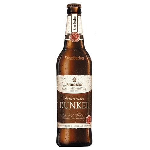 Krombacher Dunkel Natrutrüb 4x 6er-Pack 24 x 0,33 Liter (Glas)