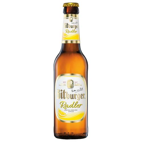 Bitburger Radler 4x 6er-Pack 24 x 0,33 Liter (Glas)
