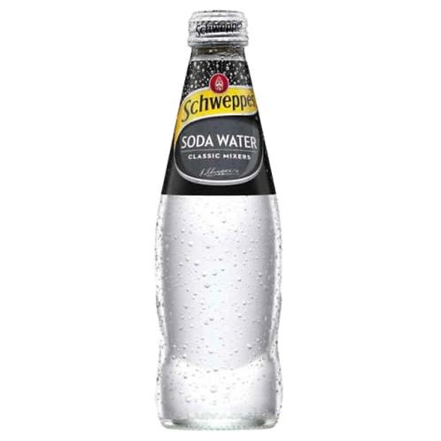 Schweppes Soda Water 24 x 0,2 Liter (Glas)