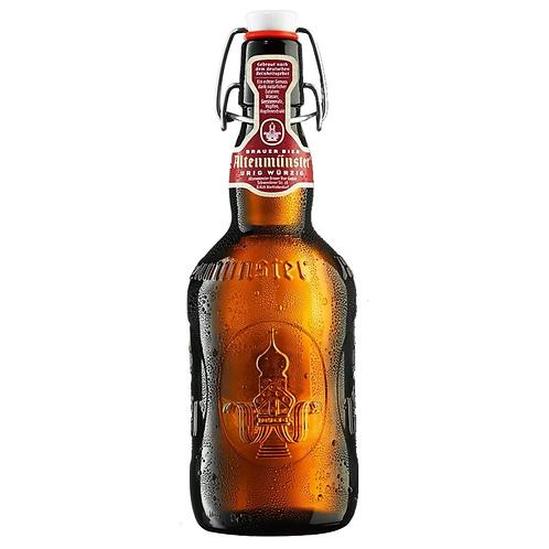 Altenmünster Brauer Bier hopfig 16 x 0,5 Liter (Glas)