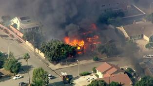 Thomas fire has surged on Sunday into the Santa Barbara County foothills...