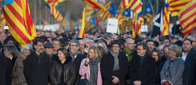 The biggest shows of force in Spain for Catalan independence.
