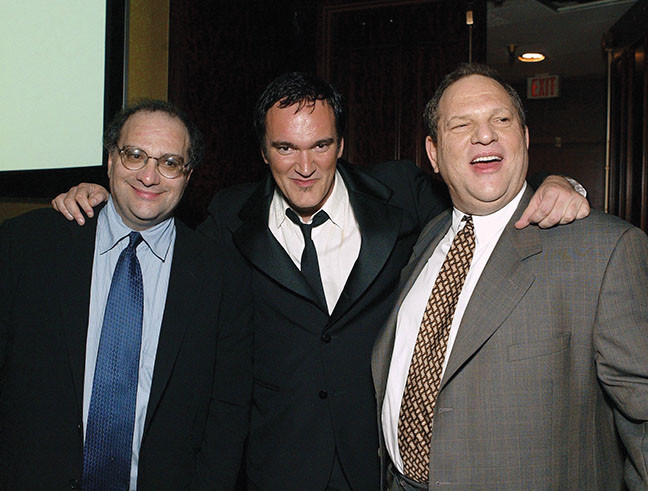 Weinstein brothers with Quentin Tarantino