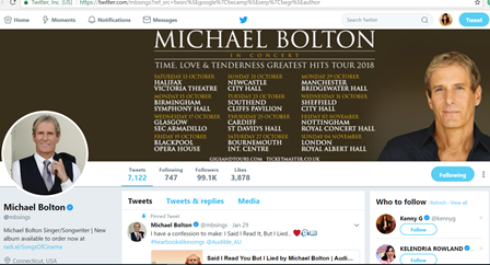 Real Michael Bolton account