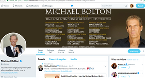 Real Michael Bolton account