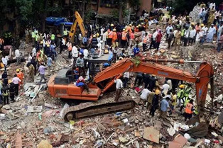 A six-storey building collapsed in Mumbai of India. A chemical explosion in Arkema plant at Crosby,