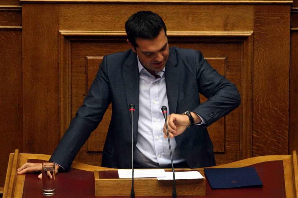 Alexis Tsipras' Leader of Syriza party