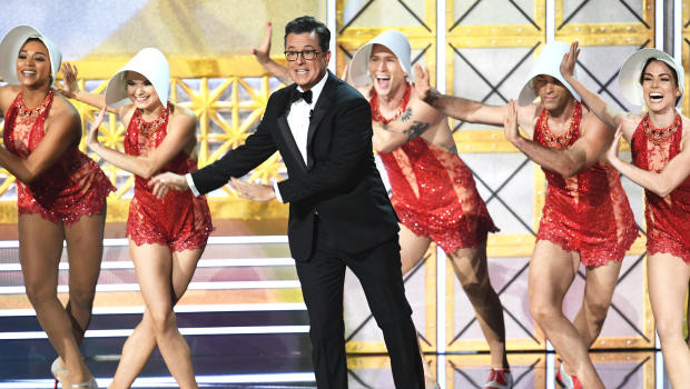 Stephen Colbert hosted the 69th Emmy Awards ceremony