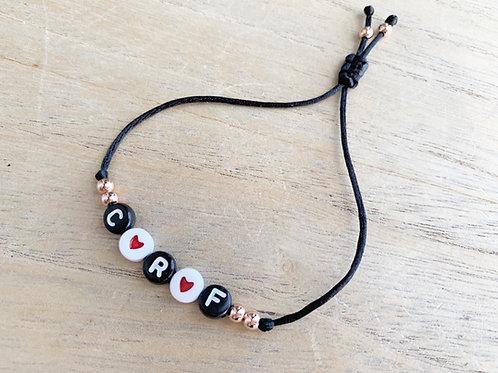 Bracelet personnalisé 3 initiales heart