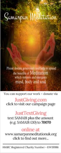 'Help Samarpan Meditation do more' Whatsapp interactive infographic