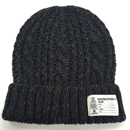 CABLE BEANIE / BLACK