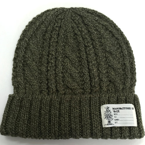 CABLE BEANIE / GREEN