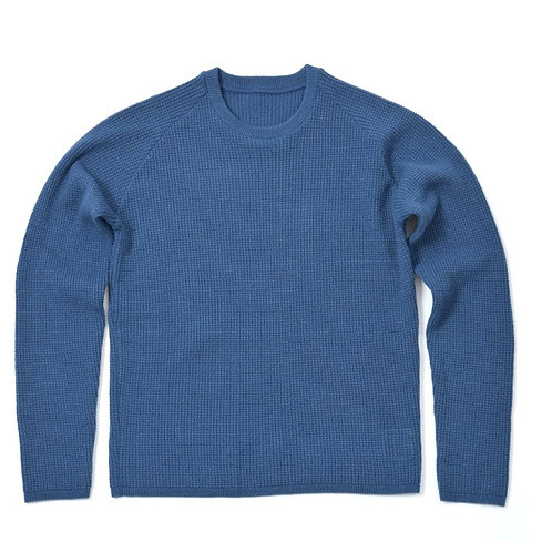 AIRLY CREW SWEATER / NAVY