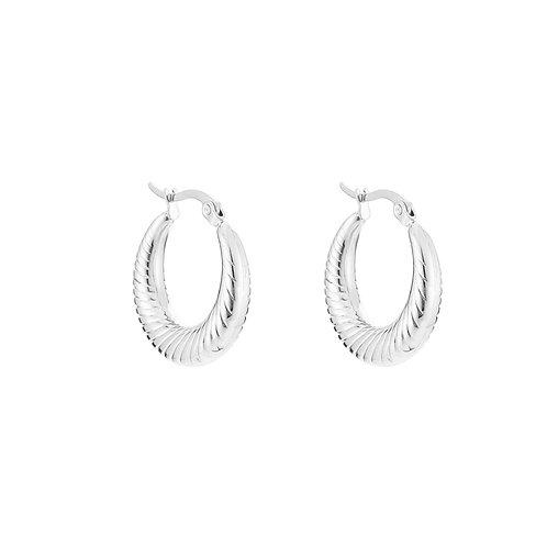 Earrings - Hoops Silver