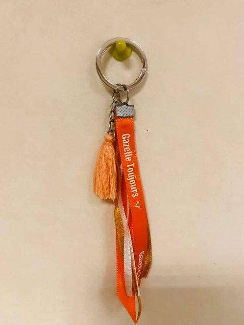 Porte clé  orange