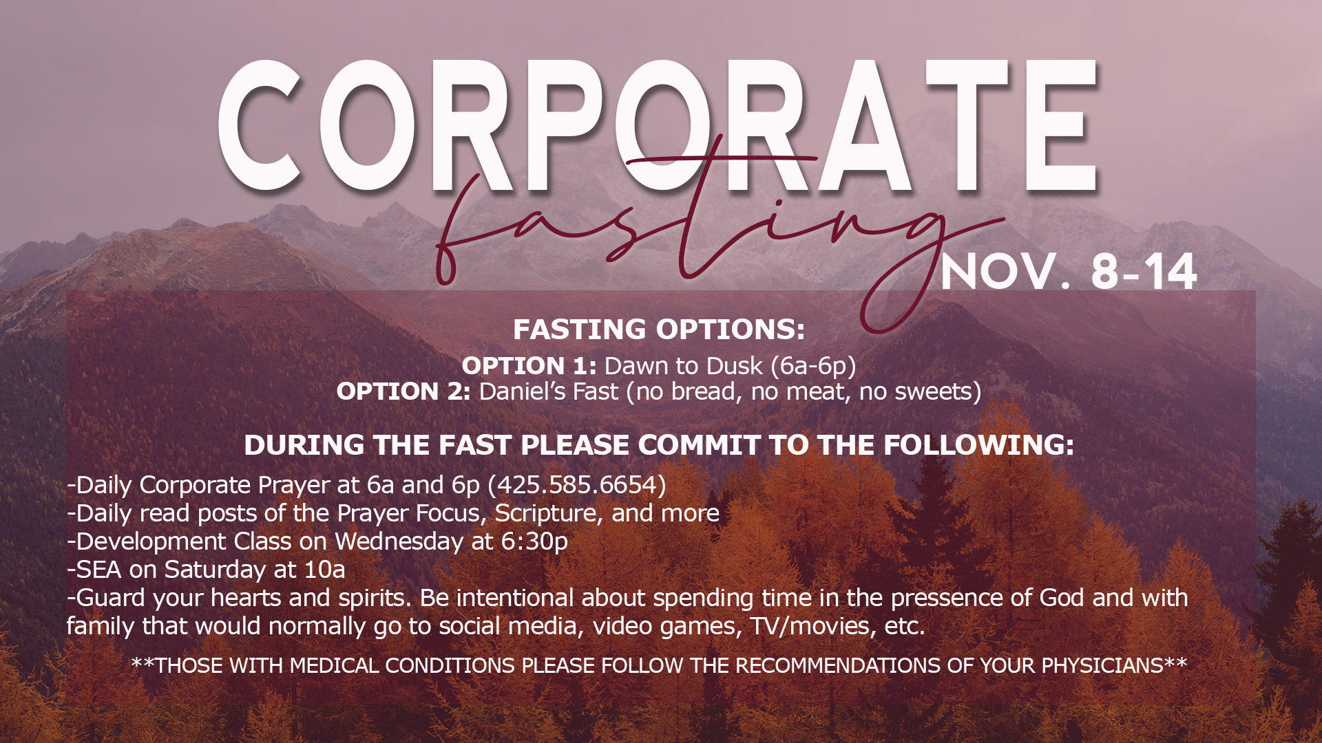Corporate fasting 20