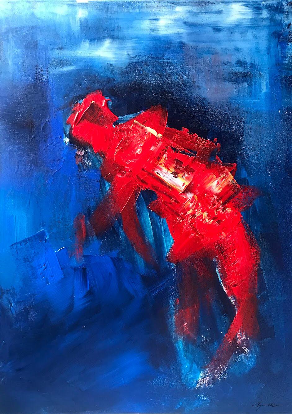 Kate Wyrembelska - Swimmers - paintings