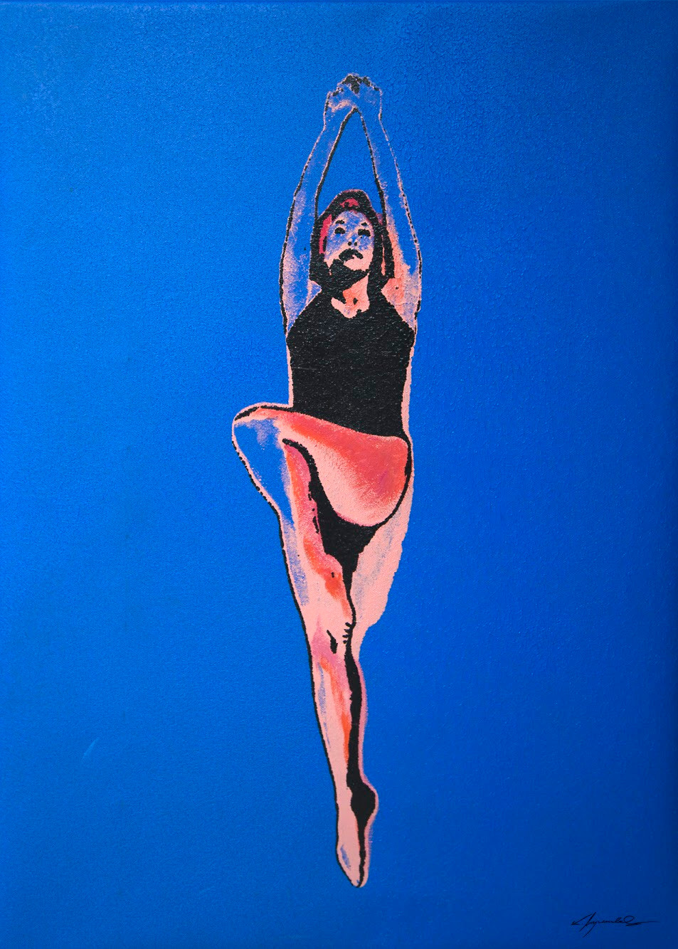 Kate Wyrembelska - Swimmers - serigraphy