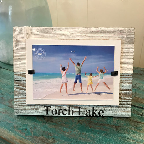 Wooden Beach Washed Frame from Torch Lake
