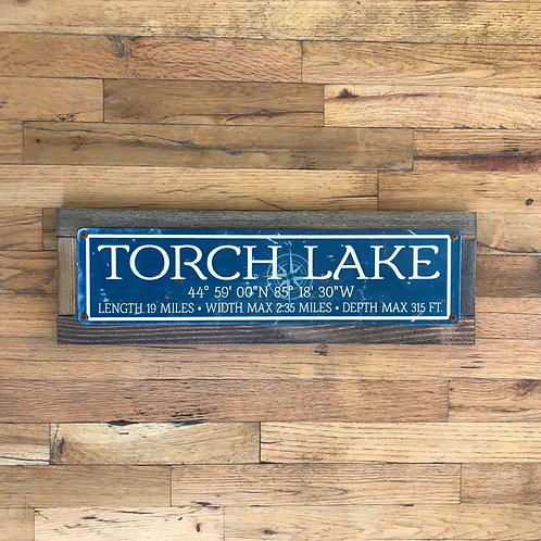 Torch Lake Tin Sign
