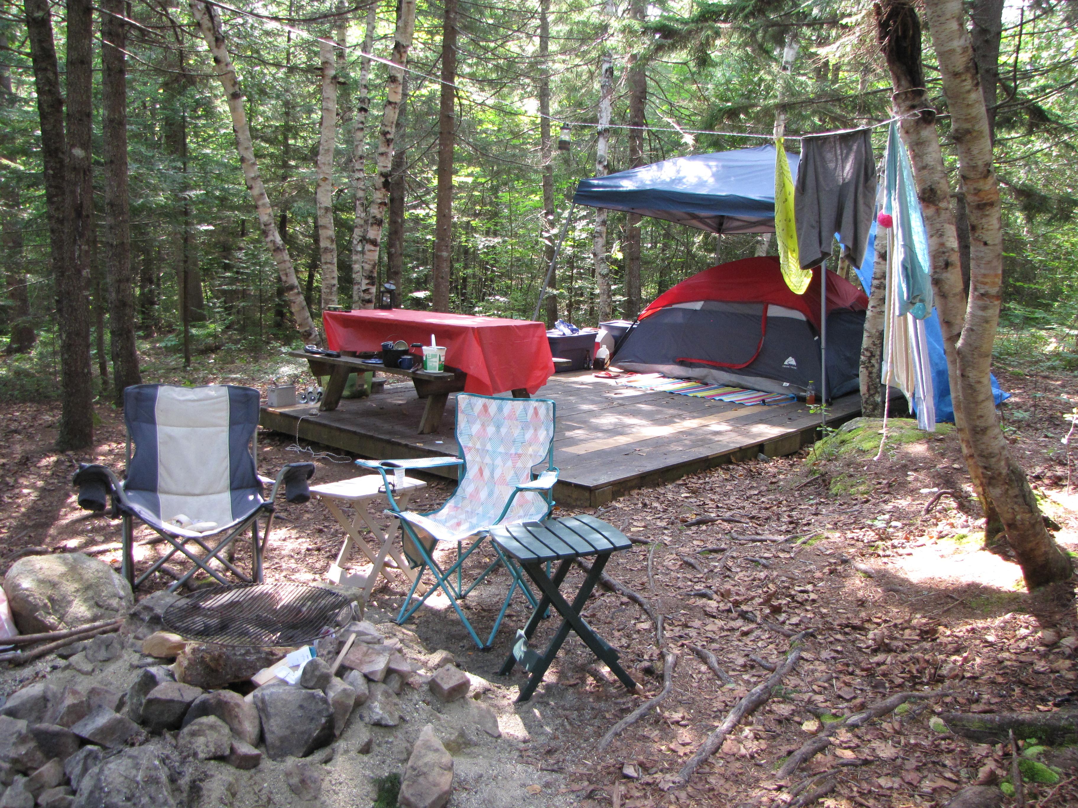 Tent Site set up