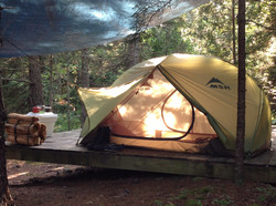 Tent Camping on a Platform