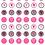 "Thumbnail: Εκτυπωμένο φύλλο για μαρεγκάκια ""Rose hearts""."