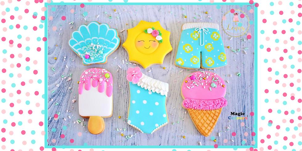 """Σεμινάριο μπισκότα με royal icing ''Summer dream"""""""