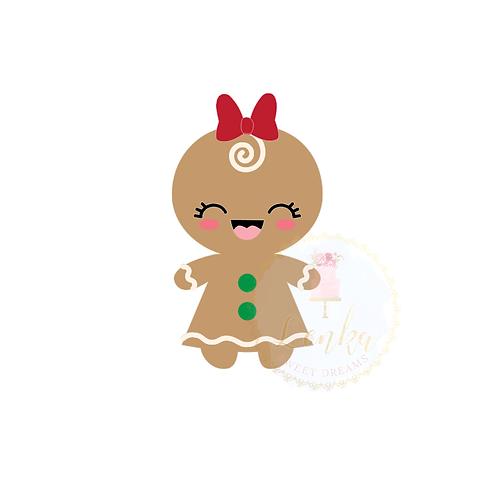 Κουπάτ gingerbread κορίτσι.