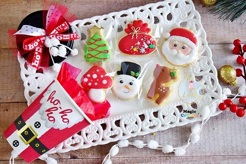 Χριστουγεννιάτικα μπισκότα σε γιορτινή συσκευασία.