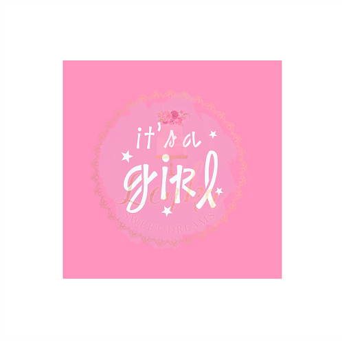 Στένσιλ ''it's a girl''.