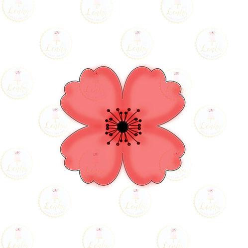 Κουπάτ λουλούδι παπαρούνα.