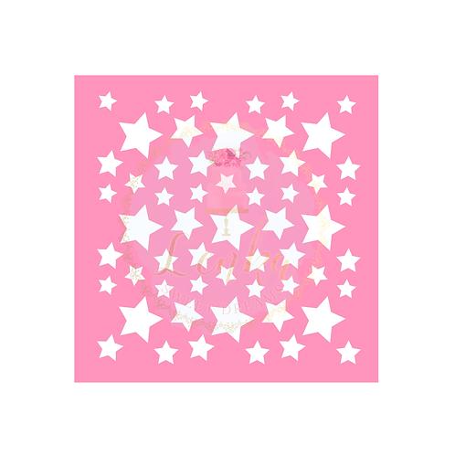 Στένσιλ αστέρια μικρά, μεσαία και μεγάλα Mix.