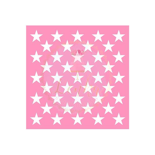 Στένσιλ αστέρια μεσαία.