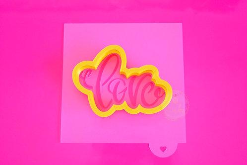 Σετ κουπάτ και στένσιλ ''love''.