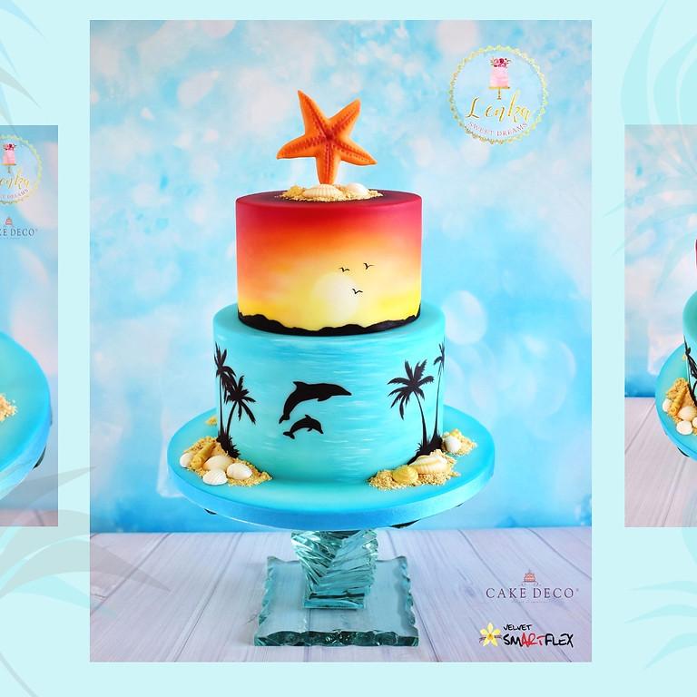 Σεμινάριο -Basic airbrush- Sunset cake. -Αθήνα- (1)