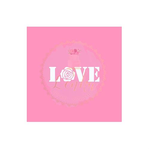 Στένσιλ ''Love & Rose''